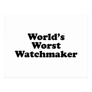 World's Worst Watchmaker Postcard