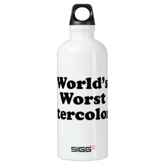 World's Worst Watercolorist Aluminum Water Bottle