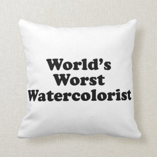 World's Worst Watercolorist Throw Pillow