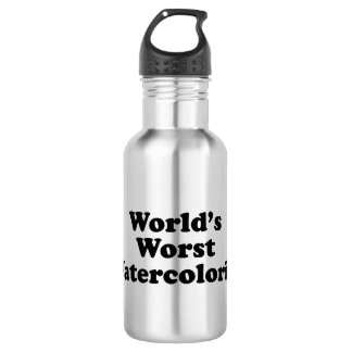 World's Worst Watercolorist Water Bottle