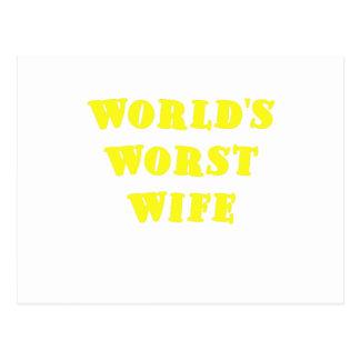 Worlds Worst Wife Postcard