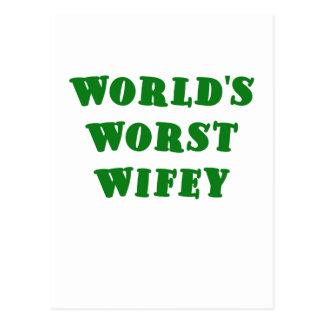 Worlds Worst Wifey Postcard