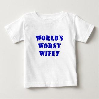Worlds Worst Wifey T Shirt