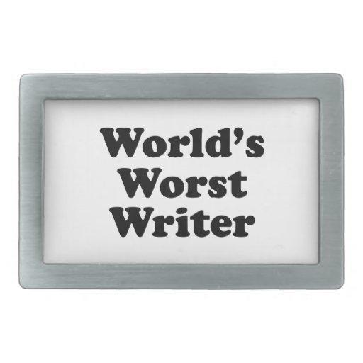 World's worst Writer Belt Buckle