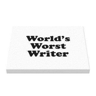 World's worst Writer Canvas Prints