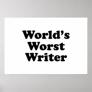 World's worst Writer Poster