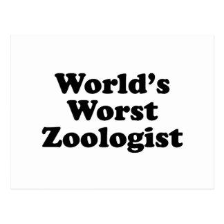 World's Worst Zoologist Postcard