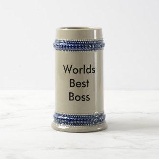 WorldsBest Boss 18 Oz Beer Stein