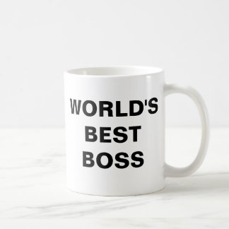 WORLD'SBESTBOSS CLASSIC WHITE COFFEE MUG