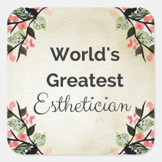 World'sGreatest Esthetician Square Sticker