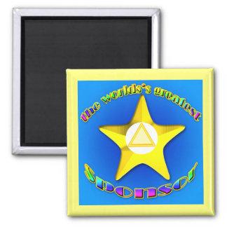 World'sGreatestSponsor 2 Inch Square Magnet