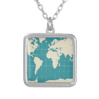worldtravels jpg personalized necklace