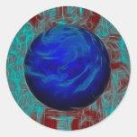 WorldTwo Round Stickers