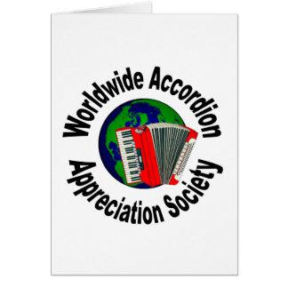 Worldwide Accordion Appreciation Society Card