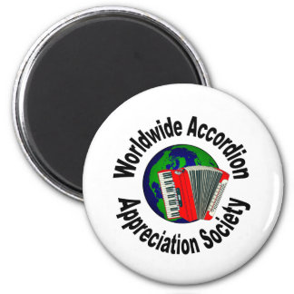 Worldwide Accordion Appreciation Society Fridge Magnets