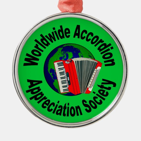 Worldwide Accordion Appreciation Society Metal Ornament