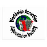 Worldwide Accordion Appreciation Society Post Cards