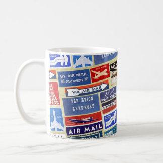 Worldwide Airmail Labels Coffee Mug