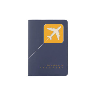 worldwide airplane travel passport holder