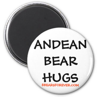 WORLDWIDE ANDEAN BEAR HUGS 2 INCH ROUND MAGNET