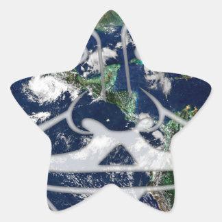 Worldwide Anonymous Star Sticker