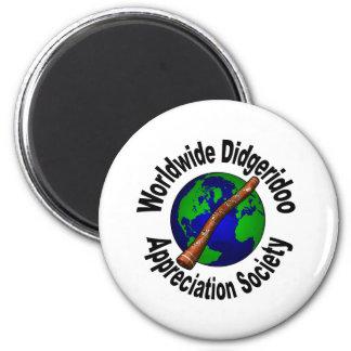Worldwide Didgeridoo Appreciation Society 2 Inch Round Magnet