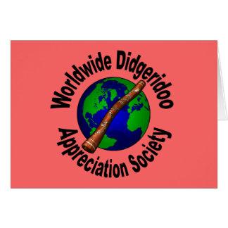 Worldwide Didgeridoo Appreciation Society Card
