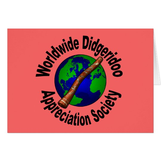 Worldwide Didgeridoo Appreciation Society Card