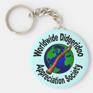 Worldwide Didgeridoo Appreciation Society Basic Round Button Keychain
