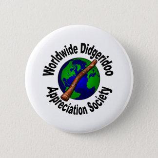 Worldwide Didgeridoo Appreciation Society Pinback Button