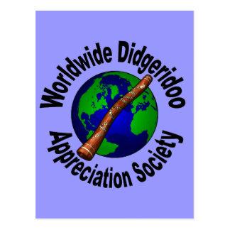 Worldwide Didgeridoo Appreciation Society Postcard