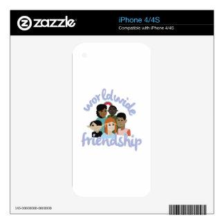 Worldwide Friendship iPhone 4 Decal