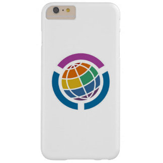 Worldwide graphic of rainbow design barely there iPhone 6 plus case