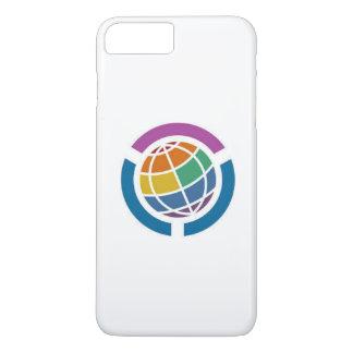 Worldwide graphic of rainbow design iPhone 8 plus/7 plus case