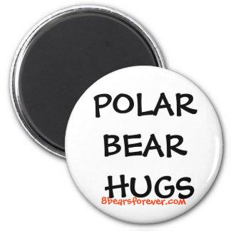worldwide polar bear hugs fridge magnet