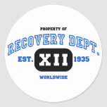 WORLDWIDE Recovery Round Stickers