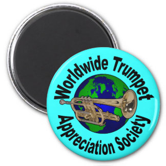 Worldwide Trumpet Appreciation Society 2 Inch Round Magnet