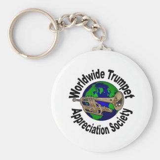 Worldwide Trumpet Appreciation Society Basic Round Button Keychain