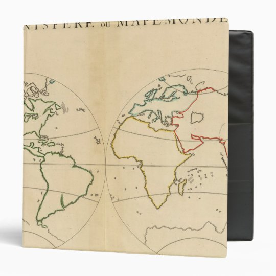 Worlp Map with 5 Zones 3 Ring Binder