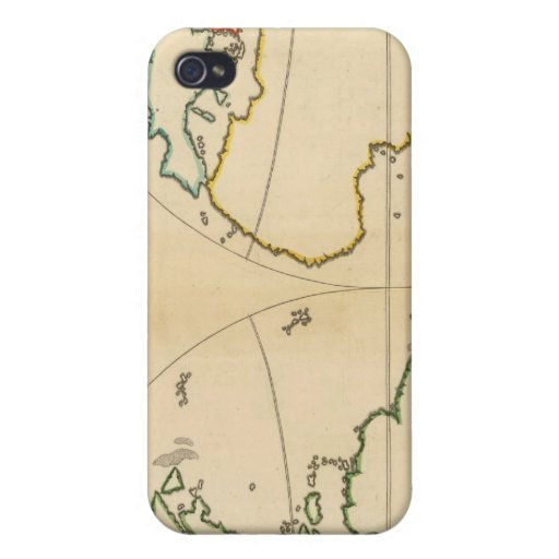 Worlp Map with 5 Zones iPhone 4 Case