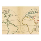 Worlp Map with 5 Zones Postcard