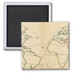 Worlp Map with 5 Zones Refrigerator Magnet