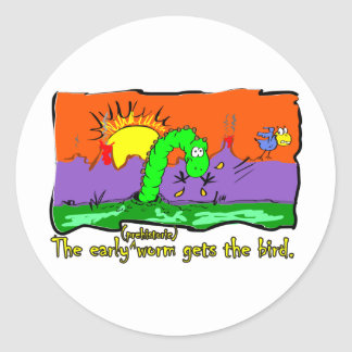 Worm_1 Round Sticker