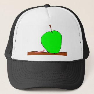 worm and big apple trucker hat
