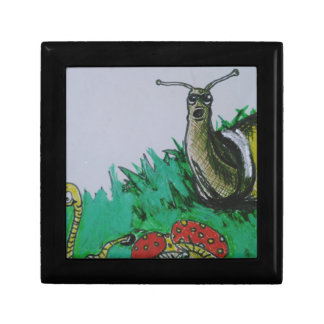 worm and snail art jewelry box