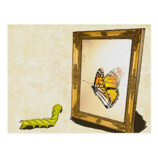 Worm and the Mirror! Post Card