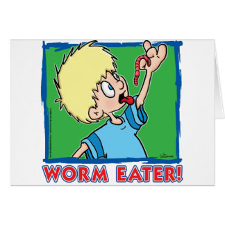 Worm Eater Greeting Card