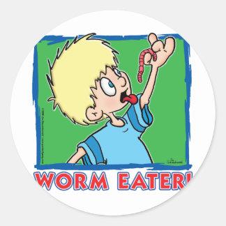 Worm Eater Classic Round Sticker