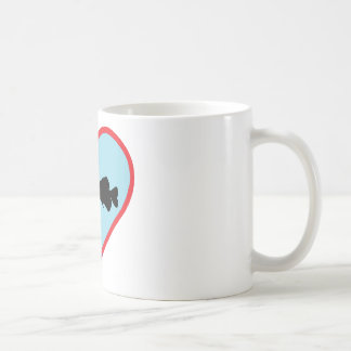 worm fishing classic white coffee mug