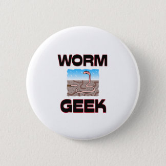Worm Geek Pinback Button